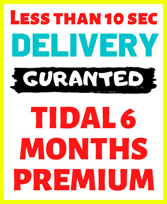 TIDAL account 6 Months FAMILY Plan +5 users GUARANTED FAST DELIVERY 100%
