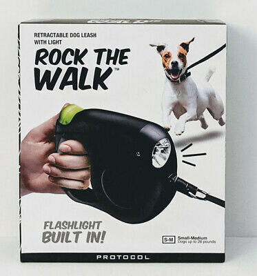 Rock the Walk - Retractable Dog Leash / Flashlight built in. Expands to 16 feet.