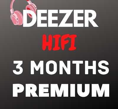 Deezer Hi-Fi 3 Months (personal account) Fast delievry Music Subscription