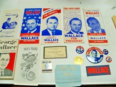 Large Lot 1968 George Wallace Campaign Material