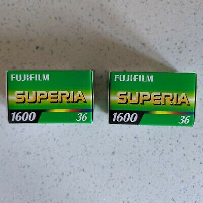 2 Rolls of Fuji Superia 1600 35mm Film / Cold Stored / Expired May 2018