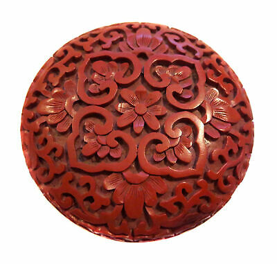 CINNABAR Lacquer CHINESE PASTE Box