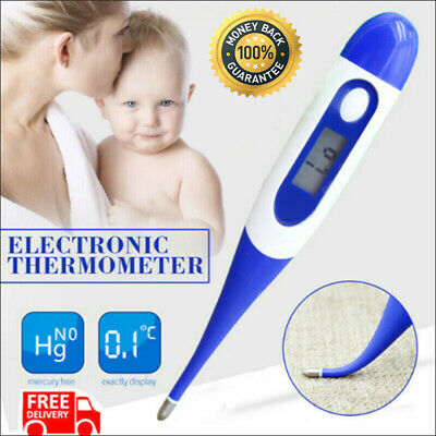 Baby Digital LCD Thermometer Medical Adults Kids Body Safe Ear Mouth Temperature