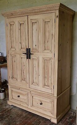 Large Stripped Pine Double Wadrobe by Halo