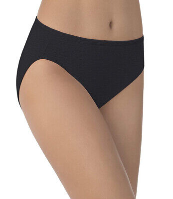 Vanity Fair Women's Illumination Hi Cut Panty 13108 Black 9/2XL