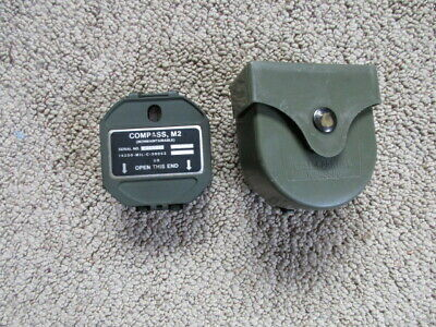Vintage Us Military M2 Compass Ww11 / Map Survey Transit Level Army Marine