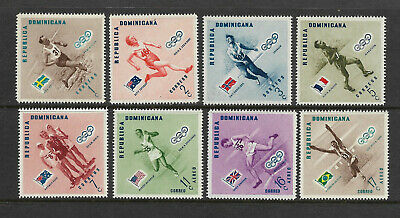 DOMINICAN REPUBLIC stamps 474-478, C97-C99 MNH