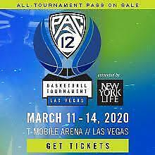 2 Tickets PAC12 Basketball Tournament March 11th @ 11am - Lower Level Las Vegas
