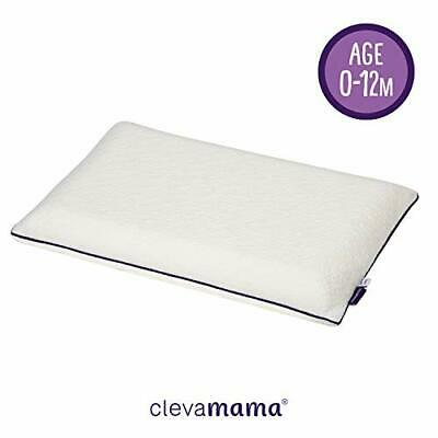 Clevamama ClevaFoam Baby Pillow (0-12 Months) - Breathable for...