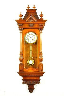 Gorgeous Antique Solid German  Spring Driven Wall Clock approx.1900