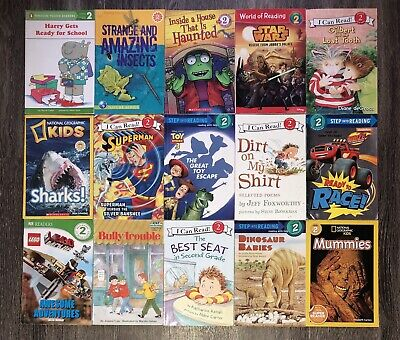 RANDOM Lot of 15 LEVEL 2 Early Readers Learning Childrens Books Paperback Boy