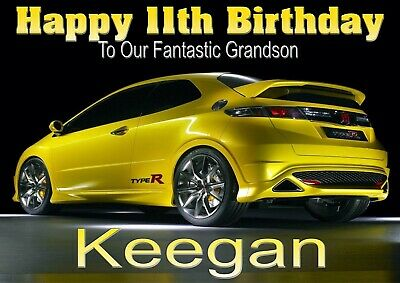 any age Personalised Dodge Charger SRT Card Birthday message or occasion
