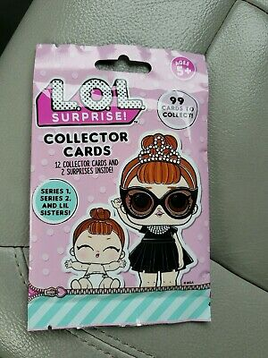 LOL SURPRISE DOLL COLLECTOR CARDS (1) Unopened Pack ! Series 1, 2 & Lil Sisters