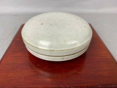 Antique Chinese White-Glazed Seal Paste Box