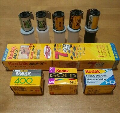 35 mm Film Lot of 15 Expired Kodak Ilford Color and Black and White