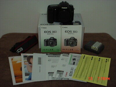 Canon 30D With Box Manuals Documents
