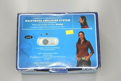 LKG Philmore PA500 Complete in Box Waistband Amplifier System w/ Headset