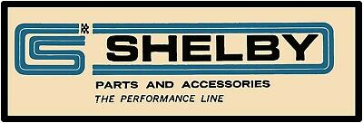 """Shelby Parts & Accessories Marquee Style Metal Sign 6""""x18""""  Free Shipping"""