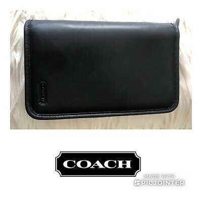 COACH Vintage Leather Planner Check Book