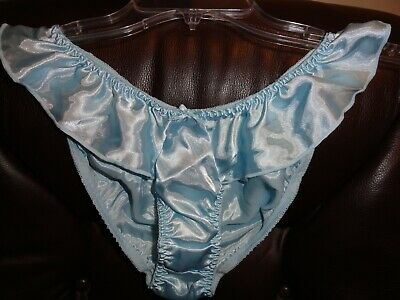 Vtg classified satin flutter panties size Large New Baby Blue