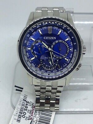 Citizen Eco Drive Mens BU2021-51L Stainless Steel Blue Dial $495 Watch #28