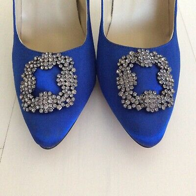 Something Blue SATC Carrie Wedding  Shoes Heels Size 41 Or 9