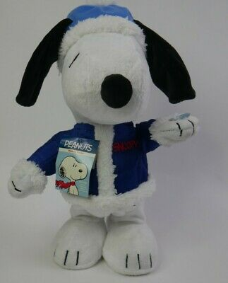 """Musical Peanuts Plush Snoopy Dog"""" Stuffed Animal blue hat, no includes batterys"""