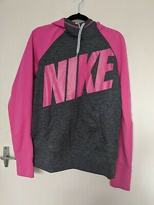 Pink And Grey Nike Jumper Size M Therma Fit