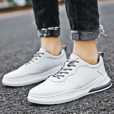 2PCS Men Running Outdoor White Sneakers Sports Casual Walking Shoes Lightweight
