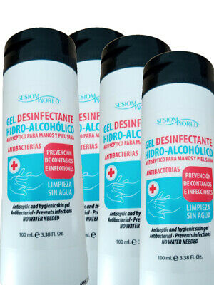 Pack 10 Ud Solución  Desinfectante Hidroalcoholico Antiseptico Sin Agua - 100Ml