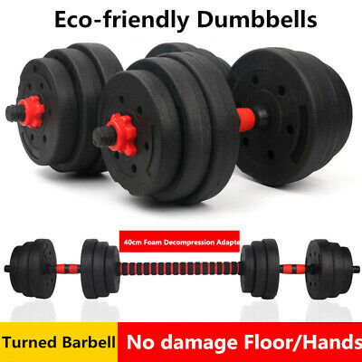 Weights Set 20kg Adjustable Dumbbell Barbells Weight Lifting Training Home Gym