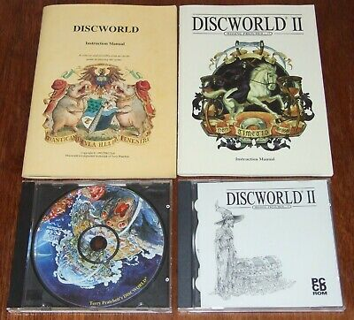 Discworld I and II game programs on CD-Rom disc for vintage PC