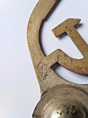 USED Soviet Union Russian USSR Flag Pole Top Topper Hammer & Sickle