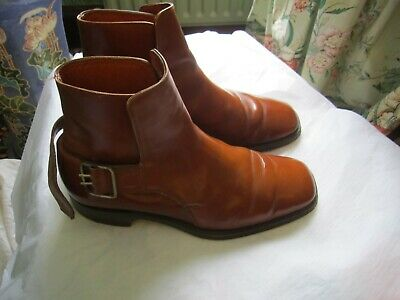 Brown leather boots size 8.5 leather sole and upper and lining Made In England