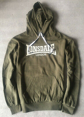 Lonsdale Womens London Logo Pullover Hoodie Hooded Sweatshirt Jumper Top SZ 8-14