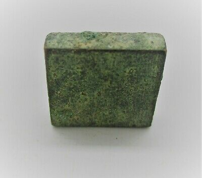 Authentic Byzantine Period Bronze Cube Solidus Weight. 10G