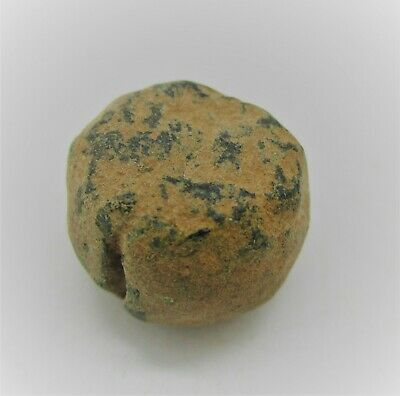 Authentic Byzantine Period Bronze Weight Or Gaming Piece 14G
