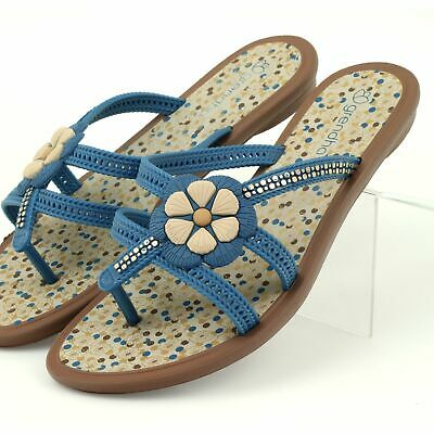 Rider Flip flops children's shoes with a flower to the water Grendha blue