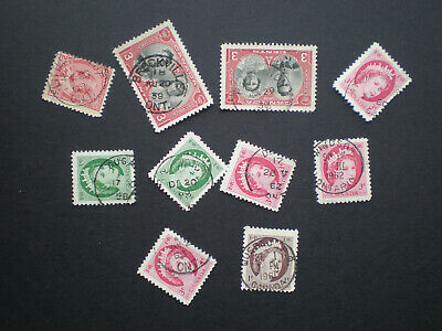 Lot of 10 Vintage Stamps used All with DATE - 99¢ Postage Canada