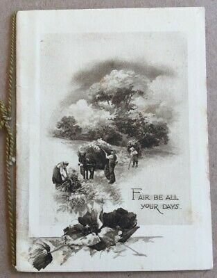 Vintage Greeting Card Raphael Tuck Christmas Greetings Fair Be All Your Days
