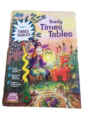 Letts Level 1 Times Tables Book KS1 Age 6-7years