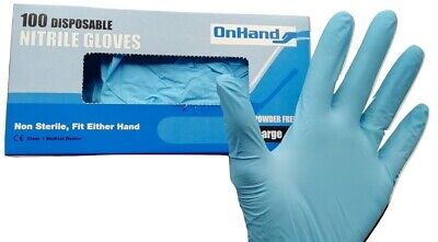 Disposable Powder and Latex Free Nitrile Gloves Virus Protective