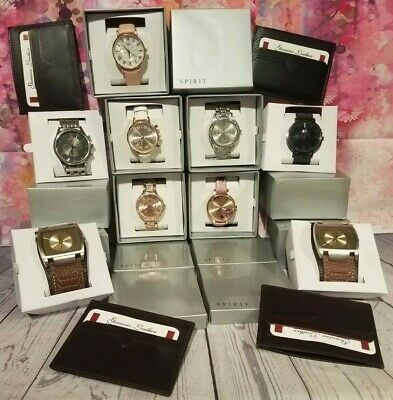 JOB LOT 8 Spirit Men's Ladies/ Girls Watches & 4 Leather Card holders GIFTS SW13