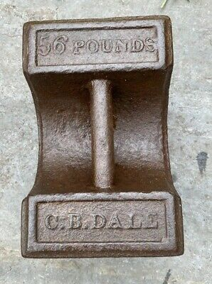 Vintage Cast Iron C B DALE 56lb Weight Market Stall Door Stop Boat