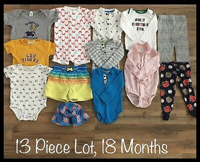 Toddler Boy Clothing Lot, 13 Items, 18 Months, Carter's, Circo, Captain America