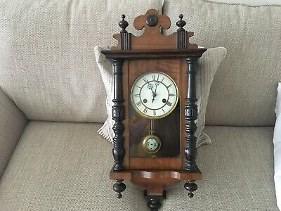 Wooden Wall Hanging Pendulum Clock with key