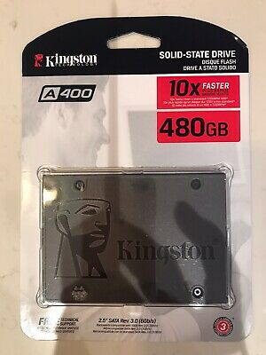"""KINGSTON SOLID-STATE DRIVE A400 480GB 10XFASTER 2.5"""" SATA Rev.3.0(6Gb/s)"""