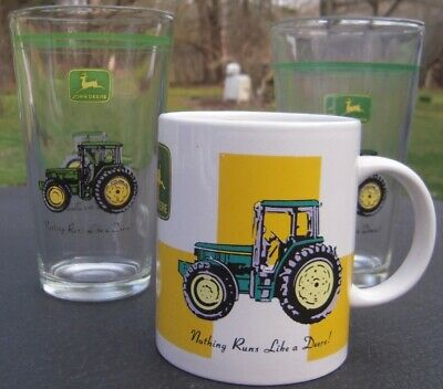 John Deere glasses and mug