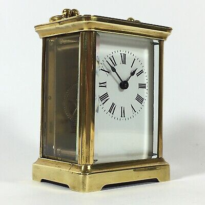 Impressive FRENCH Antique Brass Carriage Clock ACC Circa 1890 with Key