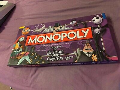 Nightmare Before Christmas Special Edition Full Set Near New Monopoly